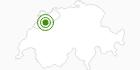 Langlaufgebiet Prés-d'Orvin - Chasseral in Biel/Bienne Seeland: Position auf der Karte