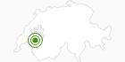 Langlaufgebiet Les Paccots - Le Cret in Fribourg: Position auf der Karte