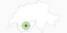 Langlaufgebiet Sierre Anniviers im Val d'Anniviers: Position auf der Karte
