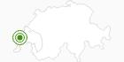 Langlaufgebiet Vallee de Joux in Genferseegebiet: Position auf der Karte