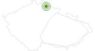 Langlaufgebiet Paseky nad Jizerou Tschechisches Riesengebirge: Position auf der Karte