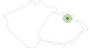 Langlaufgebiet Jeseniky Altvatergebirge: Position auf der Karte