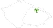 Cross-Country Skiing Area Ski Sneznik Dolni Morava Hruby Jesenik: Position on map