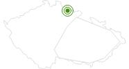 Langlaufgebiet Strazne Tschechisches Riesengebirge: Position auf der Karte