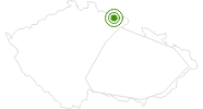 Langlaufgebiet Zacler Tschechisches Riesengebirge: Position auf der Karte