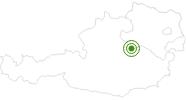 Langlaufgebiet Hochkar im Mostviertel: Position auf der Karte