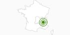 Langlaufgebiet Villard de Lans in Isère: Position auf der Karte