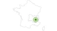 Langlaufgebiet Meaudre in Isère: Position auf der Karte