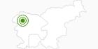 Langlaufgebiet Vogel in der Region Gorenjska: Position auf der Karte