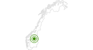 Cross-Country Skiing Area Kvitfjell in Oppland: Position on map