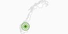 Langlaufgebiet Kvitfjell in Oppland: Position auf der Karte