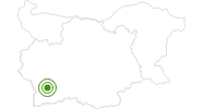 Langlaufgebiet Bansko im Piringebirge: Position auf der Karte