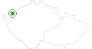 Langlaufgebiet Plesivec Erzgebirge Krusne hory: Position auf der Karte