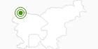 Langlaufgebiet Kranjska Gora im Zgornjesavska Tal: Position auf der Karte