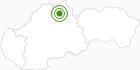 Langlaufgebiet SKI PARK Kubinska hola in der West Tatra: Position auf der Karte