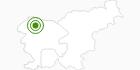 Langlaufgebiet Pokljuka in der Region Gorenjska: Position auf der Karte