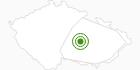 Langlaufgebiet Nové Město Tschechische Karpaten: Position auf der Karte
