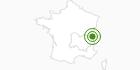 Langlaufgebiet Vallée d'Aulps Montriond Hochsavoyen: Position auf der Karte