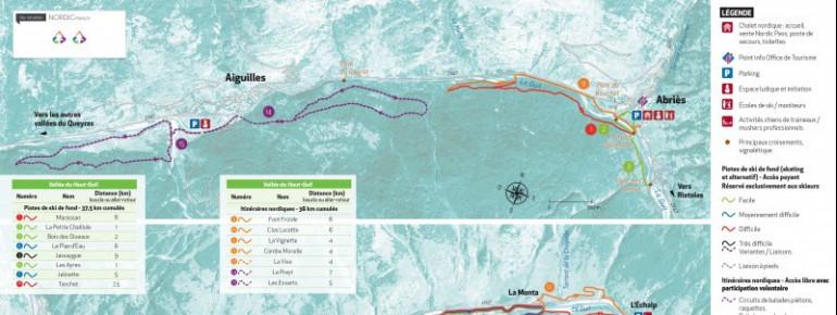 Loipenplan Abriès - Aiguilles - Ristolas (Vallée du Haut Guil)
