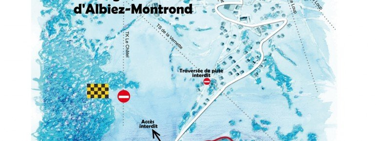 Trail Map Albiez Montrond