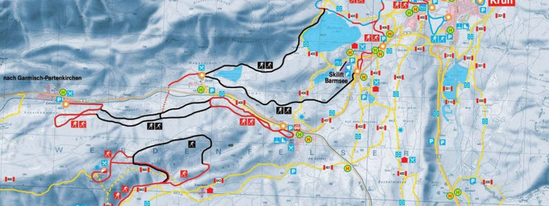 Loipenplan Alpenwelt Karwendel