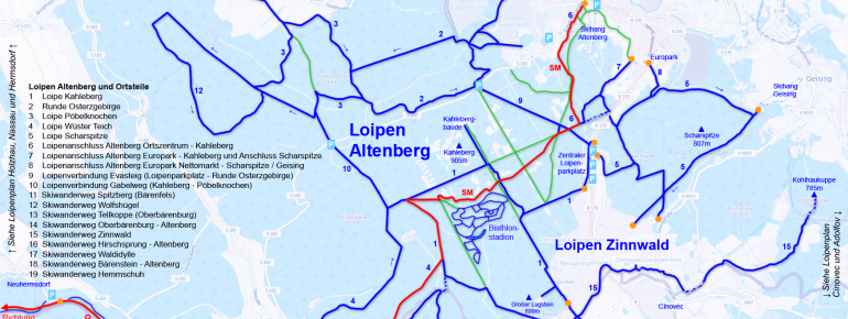 Trail Map Altenberg