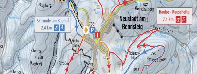 Loipenplan Altenfeld / Neustadt am Rennsteig