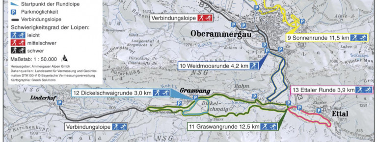 Loipenplan Ammergauer Alpen