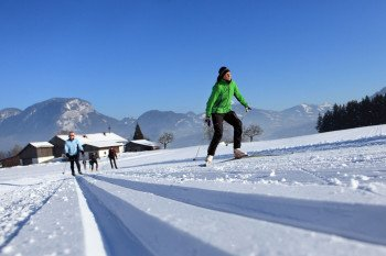 Langlaufen im Trainingszentrum am Angerberg.