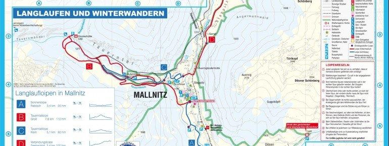 Loipenplan Mallnitz