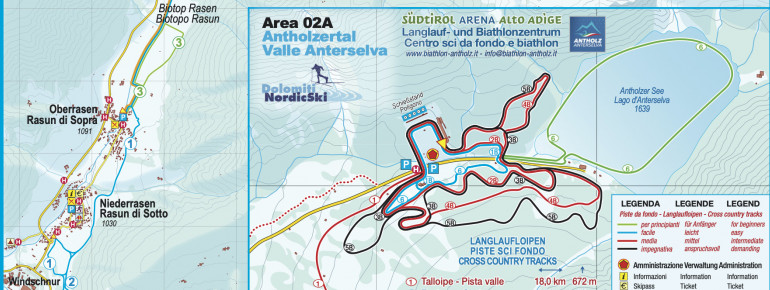 Trail Map Antholz Valley