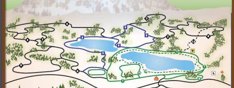 Loipenplan Anthony Lakes Mountain Resort