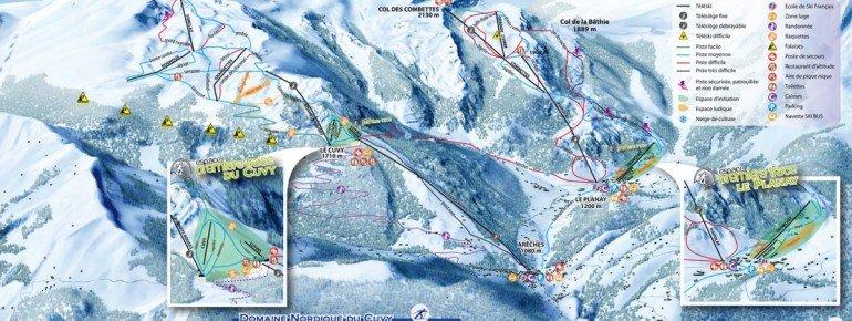 Loipenplan Areches Beaufort