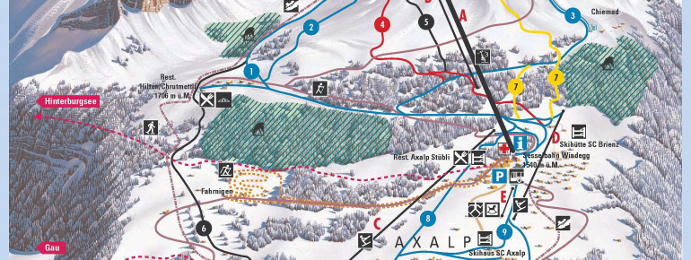 Trail Map Axalp Brienz