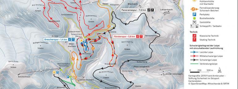 Loipenplan Hohtann-Belchen