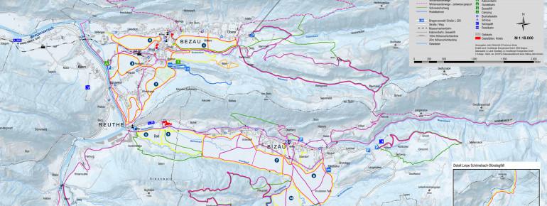 Loipenplan Bezau - Bizau - Reuthe