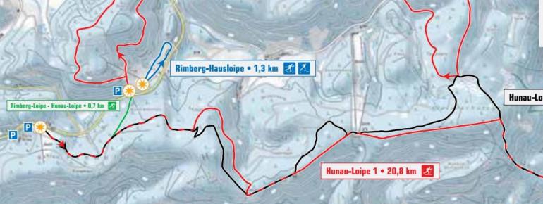Trail Map Bödefeld Hunau