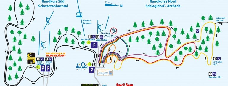 Trail Map Brauneck Lenggries