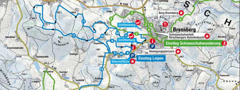 Loipenplan Brennberg
