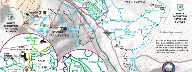 Trail Map Bretton Woods Nordic Center