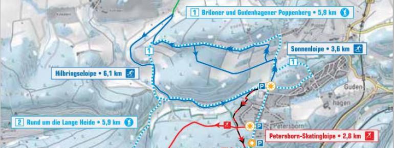 Loipenplan Brilon DSV Nordic Aktiv Zentrum