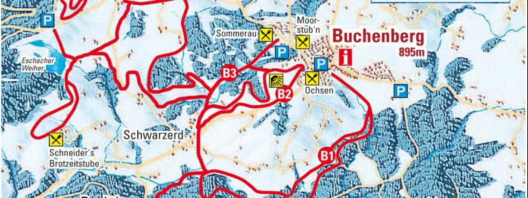Loipenplan Markt Buchenberg - Eschach