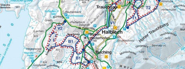 Loipenplan Buching Halblech Trauchgau