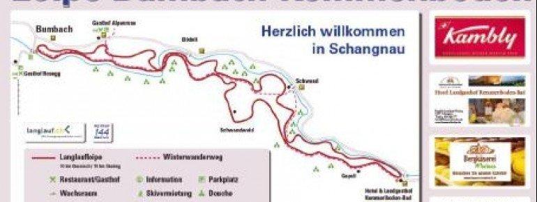 Loipenplan Bumbach Schangnau