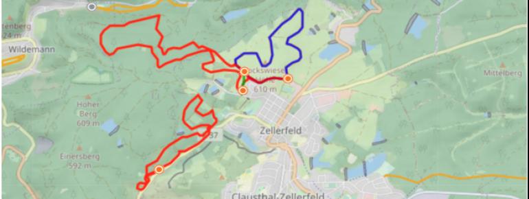 Loipenplan Clausthal - Zellerfeld