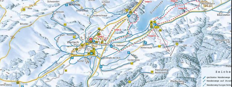 Trail Map Wertach