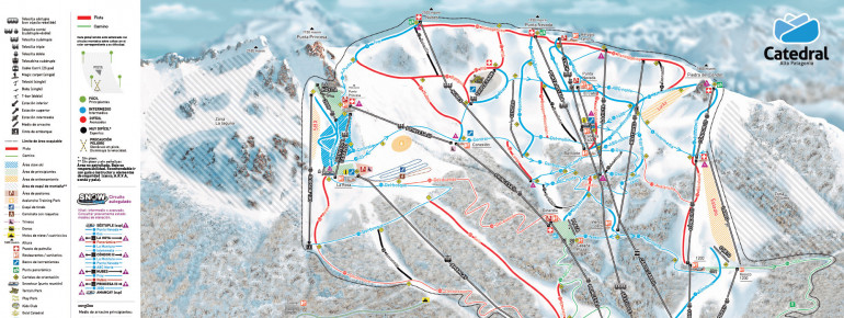 Trail Map Catedral Alta Patagonia