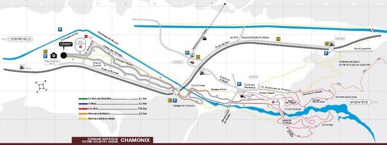 Loipenplan Chamonix Mont Blanc