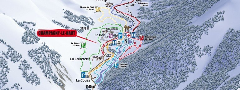 Loipenplan Champagny en Vanoise