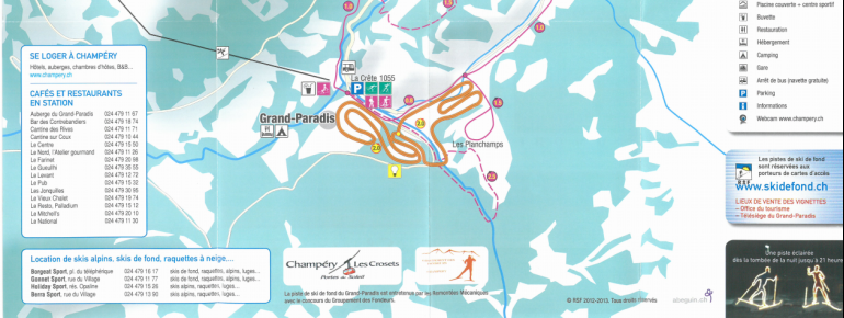 Trail Map Champery
